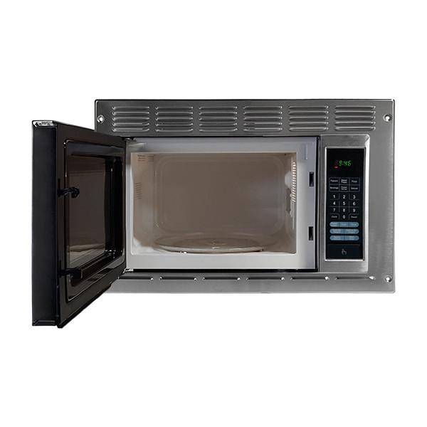 Appliances greystone built in rv microwave oven stainless - Stainless steel microwave interior ...